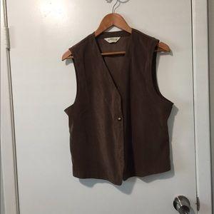 Orvis brown velvet vest medium